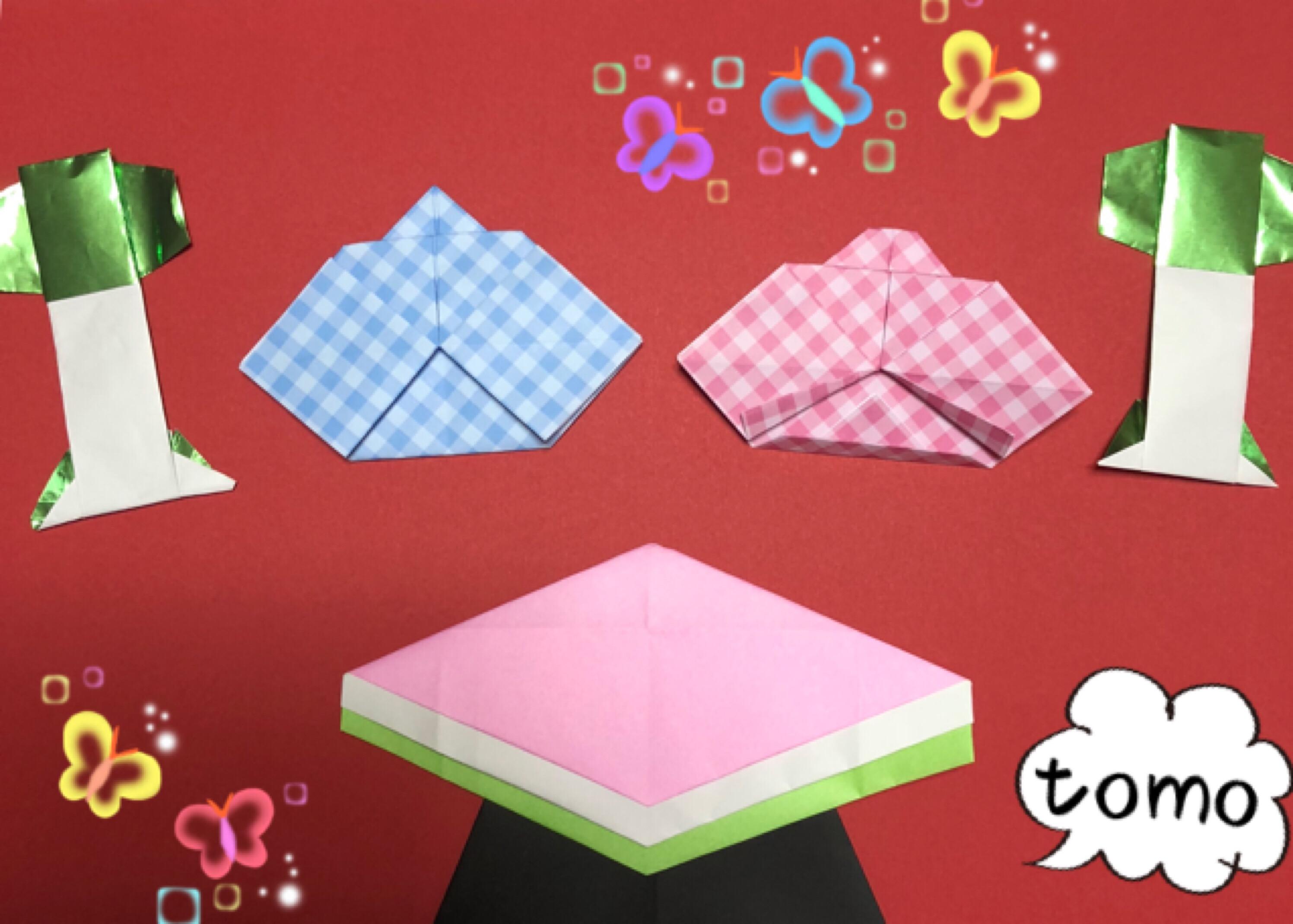子供でも簡単に折れる!折り紙でひな祭りセットを折ろう!