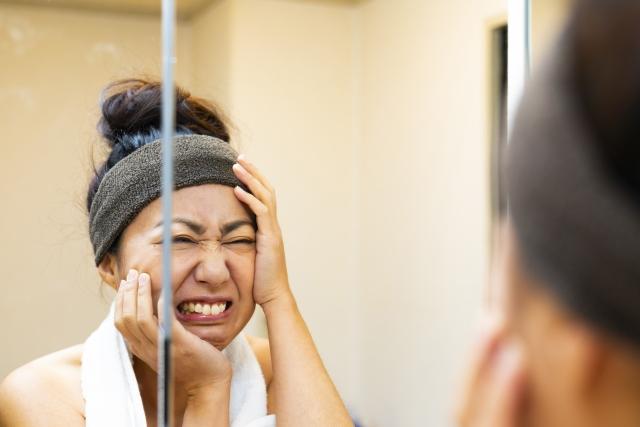 アラフォーになって急に老けた?老け顔の原因と改善する方法!